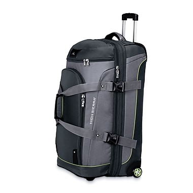 High Sierra AT359 32in. Wheeled Drop-Bottom Wheeled Duffel W/ Backpack Straps Graphite