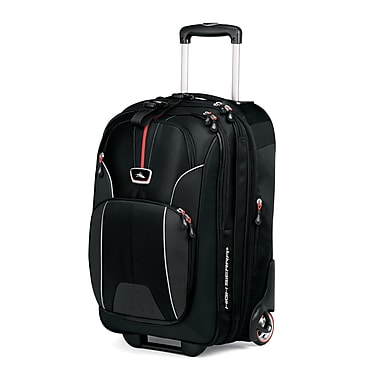 High Sierra AT604  Carry-On Wheeled Computer Upright W/ Computer SleEVe Black Red