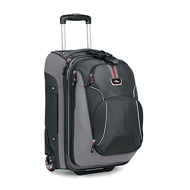 High Sierra AT605 Carry-On Wheeled Backpack W/Rem Daypack Greystone