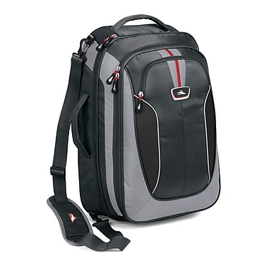 High Sierra AT607 Carry-On TravEL Bag W/ Backpack Straps Greystone