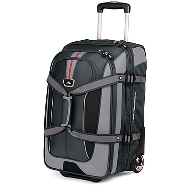High Sierra AT656 Carry-On Expandable Wheeled Duffel W/ Backpack Straps Greystone