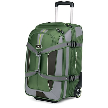 High Sierra AT656 Carry-On Expandable Wheeled Duffel W/ Backpack Straps Cactus