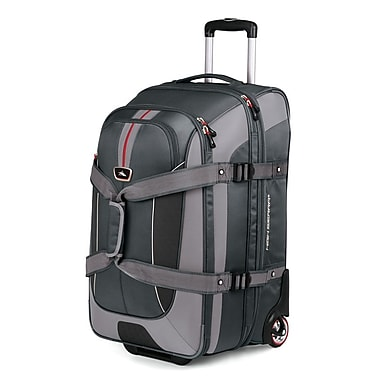 High Sierra AT658 26in. Expandable Wheeled Duffel W/ Backpack Straps Greystone