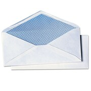 "Quality Park Products® 4 1/8"" x 9 1/2"" White 24 lbs. Security Tinted Check Envelopes, 500/Pack"