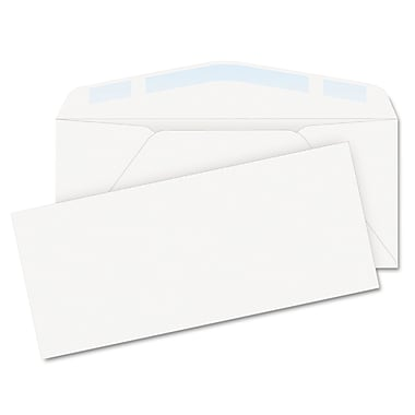 Quality Park Products® 4 1/8in. x 9 1/2in. White 24 lbs. Laser & Inkjet Business Envelopes, 100/Pack
