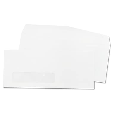 Quality Park Products® 4 1/8in. x 9 1/2in. White 24 lbs. Business Window Envelopes, 1000/Pack