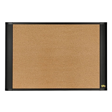 Post-it® 48in.(W) x 36in.(H) Sticky Cork Board, Graphite Finish Frame