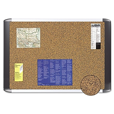 Post-it® 36in.(W) x 24in.(H) Sticky Cork Board, Graphite Finish Frame