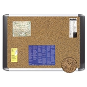 Post-it® 36(W) x 24(H) Sticky Cork Board, Graphite Finish Frame