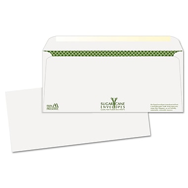 Quality Park Products® 4 1/8in. x 9 1/2in. White 24 lbs. Bagasse Sugar Cane Business Envelopes, 500/Pack