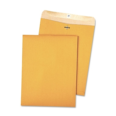 Quality Park Products® 9in. x 12in. Green 28 lbs. Clasp Envelopes, 10/Pack