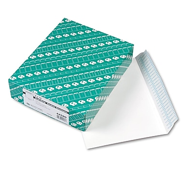 Quality Park Products® Redi-Strip 9in. x 12in. White 28 lbs. Wove Open Side Booklet Envelopes, 100/Box