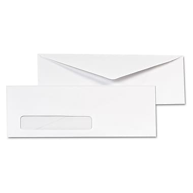 Quality Park Products® Cirrus 4 1/8in. x 9 1/2in. White 24 lbs. Lightweight Security Envelopes, 100/Pack
