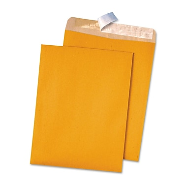 Quality Park Products® Redi-Strip 12in. x 15 1/2in. White 28 lbs. Wove Catalog Envelopes, 100/Box