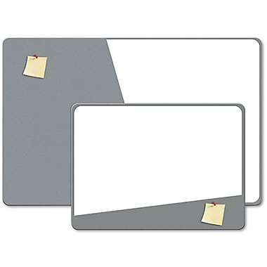 The Board Dudes™ 36in.(W) x 24in.(H) Combination Magnetic Dry Erase and Foam Combo Board, Gray