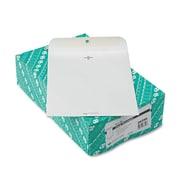Quality Park™ Clasp Envelope, Clasp/Gummed Flap, 9 x 12, White Wove, 100/Box (38390)