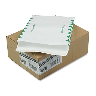 SURVIVOR® 10in. x 15in. White 18 lbs. Expansion Envelopes, 100/Box