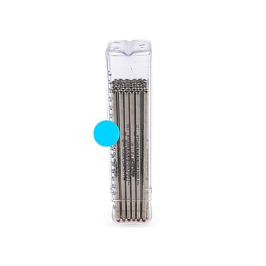 Monteverde® Superbroad 1.4 mm Mini D-1 Ballpoint Refill, Turquoise, 50/Pack
