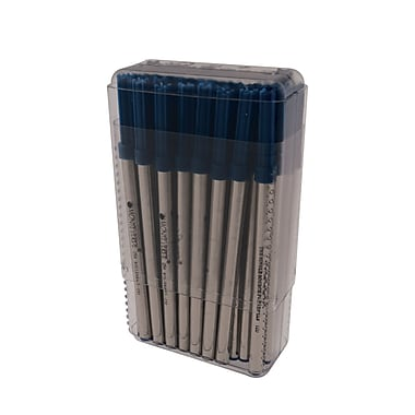Monteverde® Broad Capless Ceramic Rollerball Refill For Pelikan BP Pens, Blue/Black, 50/Pack