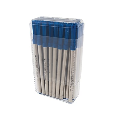 Monteverde® Broad Capless Ceramic Rollerball Refill For Pelikan BP Pens, Blue, 50/Pack