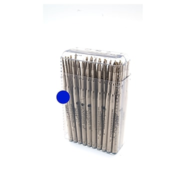 Monteverde® Medium Soft Roll Ballpoint Refill For Montblanc Pens, Blue, 50/Pack