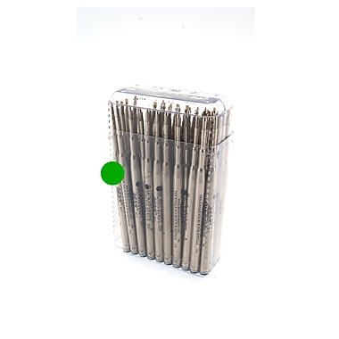 Monteverde® Medium Soft Roll Ballpoint Refill For Montblanc Pens, Green, 50/Pack