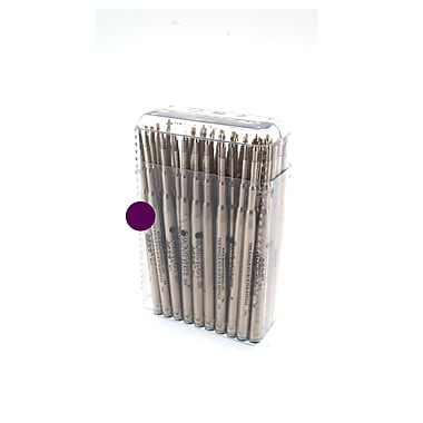 Monteverde® Medium Soft Roll Ballpoint Refill For Montblanc Pens, Purple, 50/Pack