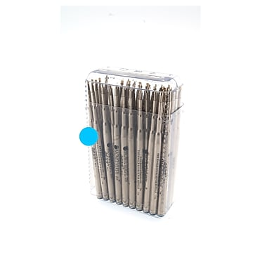 Monteverde® Medium Soft Roll Ballpoint Refill For Montblanc Pens, Turquoise, 50/Pack