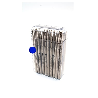 Monteverde® Medium Nickel Tube Soft Roll Ballpoint Refill For Montblanc Pens, Blue, 50/Pack