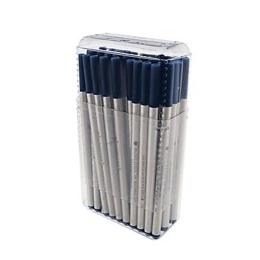Monteverde® Fine Rollerball Refill For Montblanc Rollerball Pens, Blue/Black, 50/Pack