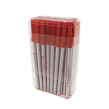 Monteverde® Medium Ceramic Rollerball Refill For Waterman Rollerball Pens, Red, 50/Pack