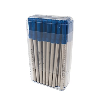 Monteverde® Broad Ceramic Rollerball Refill For Waterman Rollerball Pens, Blue, 50/Pack