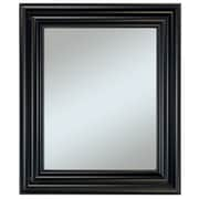 37 X 31 Beveled Baldwin Wall Mirror, Solid Back