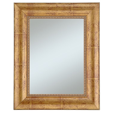 Beveled Lorrain Wall Mirror, Gold/Red, 36in. x 30in.