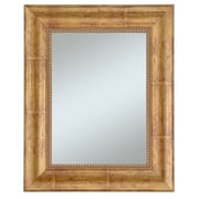 Beveled Lorrain Wall Mirror, Gold/Red, 36 x 30