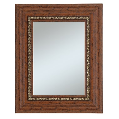 44in. x 32in. Beveled Crestwood Wall Mirror, Cherry