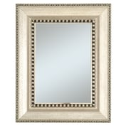 44 x 32 Chalet Large Molding Wall Mirror, Silver/Black