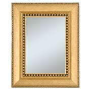 "44"" x 32"" Beveled Chalet Lagre Molding Wall Mirror, Gold/Black"