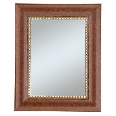 Beveled Lorrain Wall Mirror, Cherry/Gold, 36in. x 30in.