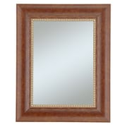 Beveled Lorrain Wall Mirror, Cherry/Gold, 36 x 30