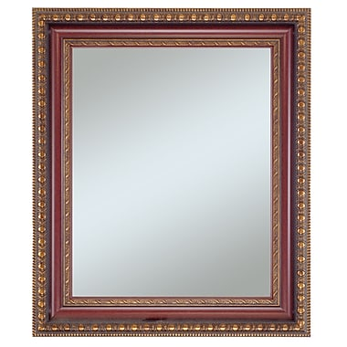 Lucia Wall Mirror, Vintage Gold With Mahogany, 36in. x 30in.