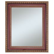 Lucia Wall Mirror, Vintage Gold With Mahogany, 36 x 30