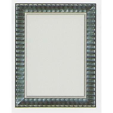 42in. x 30in. Beveled Rivauge Wall Mirror, Black