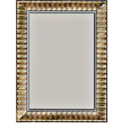 42 x 30 Beveled Rivauge Wall Mirror, Silver