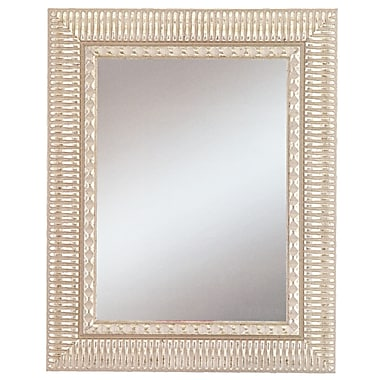 42in. x 30in. Beveled Haverhill Large Wall Mirror, Silver
