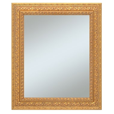 43in. x 31in. Castle Collection Wall Mirror, Antique Gold