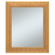 "43"" x 31"" Castle Collection Wall Mirror, Antique Gold"