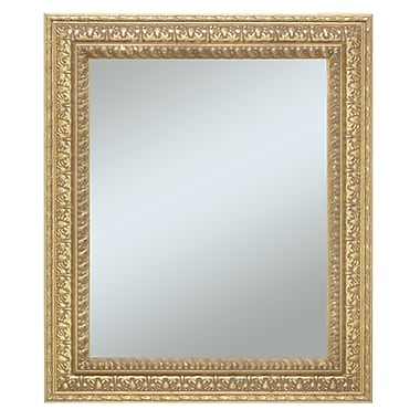 43in. x 31in. Castle Collection Wall Mirror, Warm Silver