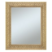 43 x 31 Castle Collection Wall Mirror, Warm Silver