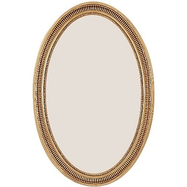 Vanity Collection Wall Mirror, Antique Gold, 34in. x 22in.